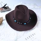 禮帽 西部草原帽藏式民族風遮陽防曬牛仔帽男女騎士帽旅游帽子藏族禮帽