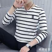 中大尺碼 長袖T桖男士韓版修身上衣服 WD3505【衣好月圓】