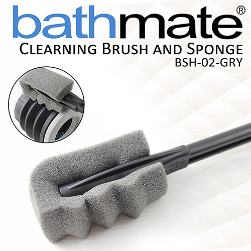 情趣用品英國BATHMATE CLEARNING BRUSH AND SPONGE 水幫浦專用清潔刷 BSH-02-GRY