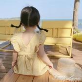 新款3女嬰兒童格子洋氣連身裙女童公主裙子純棉4寶寶一歲夏裝 聖誕節全館免運