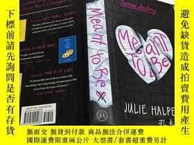 二手書博民逛書店MEANT罕見TO BE 命中註定 英文原版小說 精裝Y2320