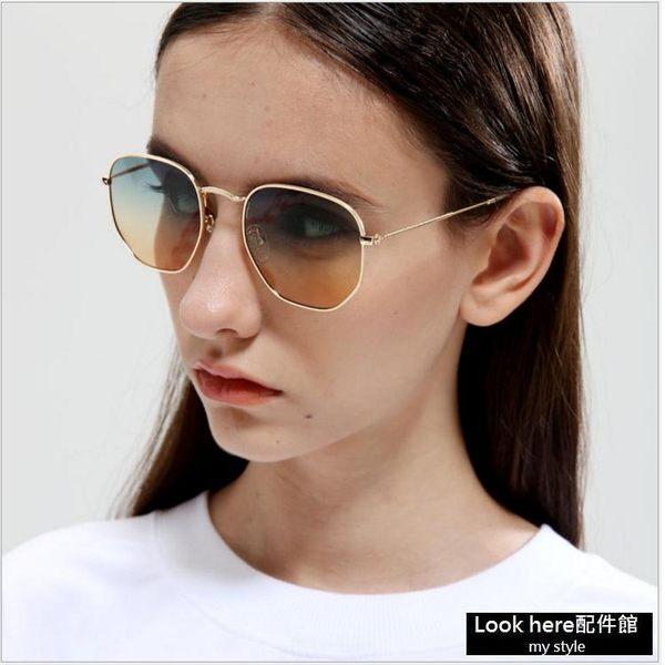 2017方框海洋片太陽眼鏡 新款復古金屬墨鏡 【B027】男女同款 復古太陽鏡 歐美個性款