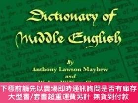 二手書博民逛書店【罕見】A Concise Dictionary Of Middle EnglishY27248 Anthon