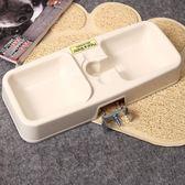 寵物飲水器貓狗喂食器自動給水器貓籠狗籠配套壁掛雙碗食盆