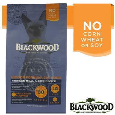 【zoo寵物商城】BLACKWOOD 柏萊富《雞肉米》室內貓全齡優活配方4LB|1.82kg