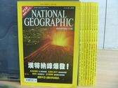 【書寶二手書T9/雜誌期刊_RBD】國家地理雜誌_2002/2~11月間_9本合售_埃特那峰爆發等