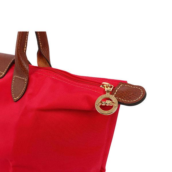 【LONGCHAMP】M號長把摺疊水餃包3D系列(深莓紅)1899089270