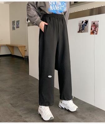 休閒褲M-2XL夏裝 學院風新款潮百搭寬松休閑哈倫衛褲薄款運動褲女M028紅粉佳人