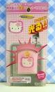 【震撼精品百貨】Hello Kitty 凱蒂貓~KITTY貼紙-來電感應貼紙-粉千鳥格