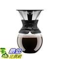 [106 美國直購] Bodum  34 oz 11571-01US 咖啡手沖壺 Pour Over Coffee Maker with Permanent Filter Black