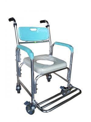 鋁合金便器椅(便盆椅)-附輪固定與便盆 FZK4301