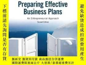 二手書博民逛書店Preparing罕見Effective Business Plans: An Entrepreneurial A