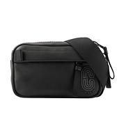 【COACH】C Logo 平滑皮革迷你腰包(黑色) 6786 QBBK