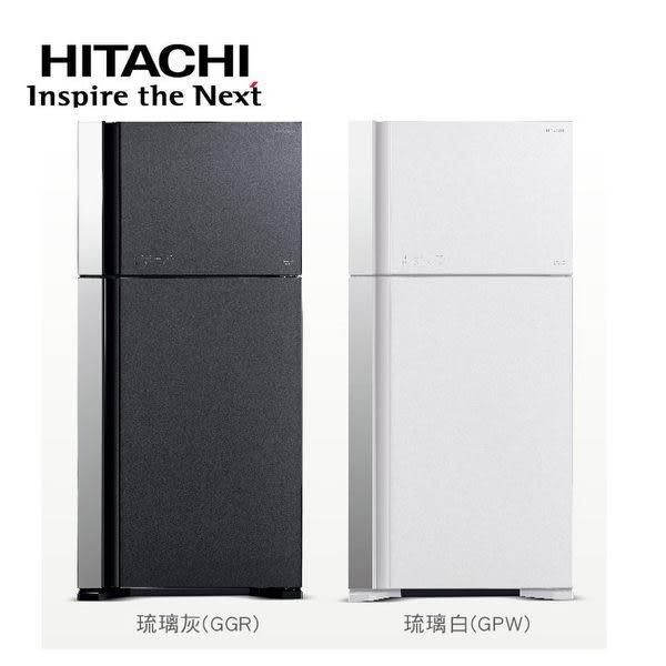 線上申請送7-11商品卡1千元【HITACHI日立】直流變頻570L。琉璃時尚二門電冰箱/琉璃白(RG599B)