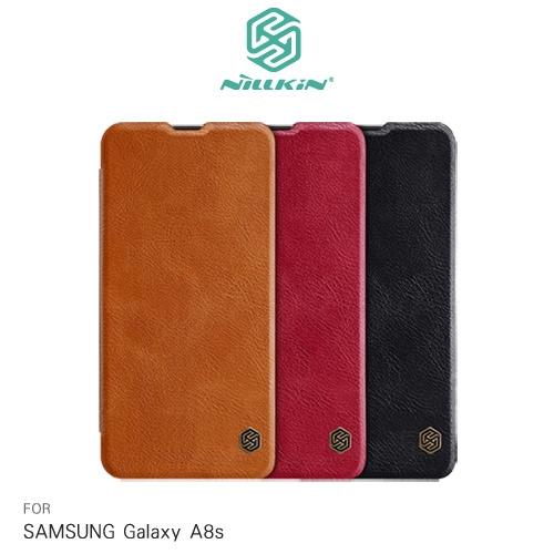 摩比小兔~NILLKIN SAMSUNG Galaxy A8s 秦系列皮套 側翻皮套 保護殼 手機殼