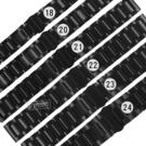 Watchband / 18.20.21.22.23.24 mm / 各品牌通用 啞光拉絲 霧面 蝴蝶雙壓扣 不鏽鋼錶帶 鍍黑 #836-41-BK