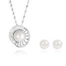 DUKEDOM 925純銀【珍愛一生】珍珠套組 項鍊+耳環