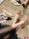 熱賣穆勒鞋 網紅涼鞋女中跟女鞋2021新款韓版夏季時尚百搭包頭套腳法式穆勒鞋 coco