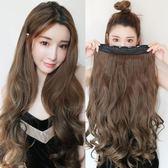 售完即止-假髮片大波浪補髮片女墊髮直髮片隱形無痕接髮片六夾捲髮片8-24(庫存清出S)