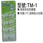 TM-1 插座安全防塵蓋 8PCS/卡