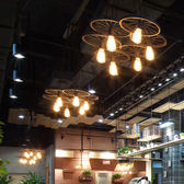 復古工業風鐵藝吊燈loft餐廳吧臺美式咖啡廳網咖創意個性車輪吊燈【居享優品】