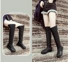 冬季新款側拉鏈長筒防水棉鞋女冬保暖過膝長靴加厚防雪防滑雪地靴 小山好物