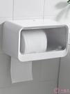 衛生間廁所紙巾架廁紙盒免打孔捲紙盒防水抽紙盒創意置物架壁掛式