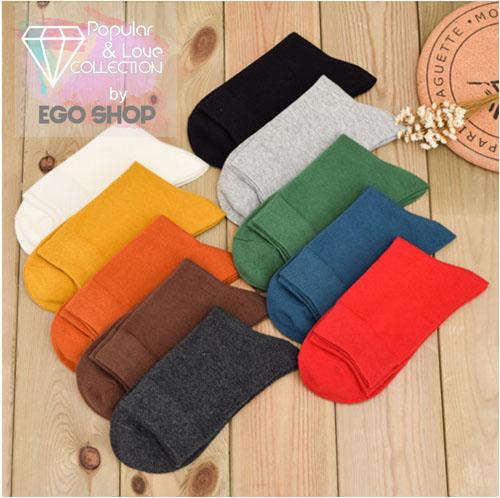 純棉襪 素色中筒襪 休閒襪