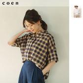 亞麻襯衫 女 印地安棉免運費 日本品牌【coen】