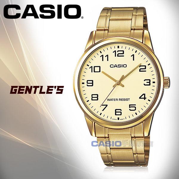 CASIO 卡西歐 手錶專賣店 MTP-V001G-9B 男錶 不鏽鋼錶帶  防水 礦物玻璃 金離子鍍金帶