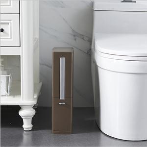 PUSH!居家生活專利多功能收納垃圾桶I77咖啡咖啡色