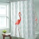 衛生間浴簾套裝隔斷加厚防水防霉免打孔窗簾布不透明掛簾洗澡門簾