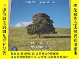 二手書博民逛書店Principles罕見of marketing Fifth European Edition營銷原理[第五版歐洲
