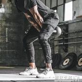 新款肌肉兄弟長褲健身運動褲男工裝哈倫褲戶外訓練束腳休閒褲 中秋節全館免運