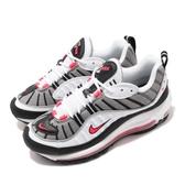 Nike Wmns Air Max 98 Solar Red 白 紅 氣墊 女鞋 運動鞋【PUMP306】 AH6799-104