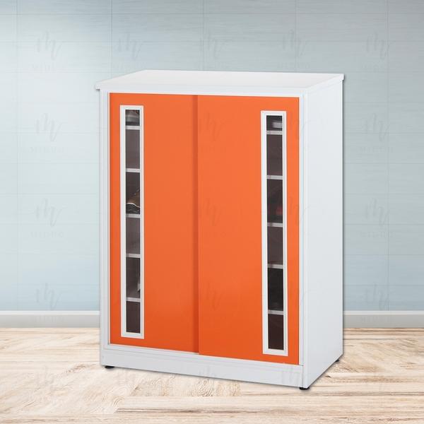 【米朵Miduo】2.7尺塑鋼拉門鞋櫃 防水塑鋼家具