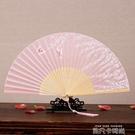 扇子女式真絲折扇古風日式夏季古典小折疊扇禮品中國風舞蹈走秀扇 依凡卡時尚