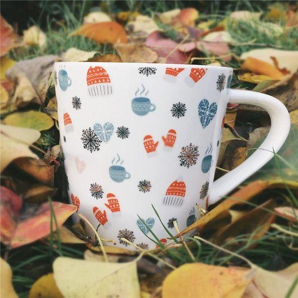 618好康鉅惠金色圣誕雪人陶瓷早餐杯馬克杯杯子水杯