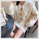 針織上衣 氣質排扣質感長袖針織衫PT9426-創翊韓都