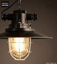 INPHIC- 工業風格復古吊燈美式創意咖啡館酒吧吧台鍋蓋鳥籠單頭吊燈-O款_S197C