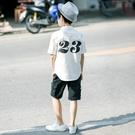 童裝男童短袖襯衫白色上衣