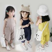 韓國兒童吊帶連身褲女寶寶吊帶褲薄款1-2-3歲女童背帶褲夏 町目家