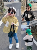 兒童外套 童裝兒童風衣男秋季新品韓商言同款男童連帽字母外套潮 快速出貨