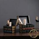 假書擺件 復古仿真書假書擺件裝飾品美式書柜書架家居創意酒柜書房柜子擺設-限時折扣