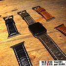 apple watch1/2/3/4代腕帶蘋果手表錶帶iwatch皮質鱷魚紋【邦邦男裝】