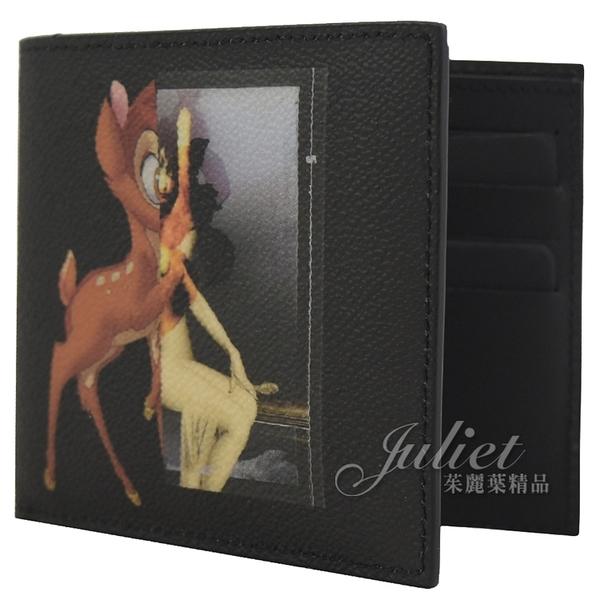 茱麗葉精品【全新現貨】 Givenchy 紀梵希Bambi小鹿斑比防刮短夾.黑