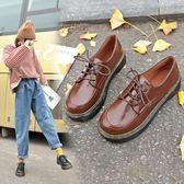娃娃鞋-復古英倫風小皮鞋女新款百搭韓版學生松糕單鞋厚底娃娃鞋 花間公主