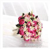 婚紗影樓攝影拍照道具新娘手捧花結婚新款粉紅白仿真韓式婚禮花束  凱斯盾數位3c