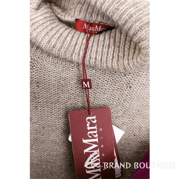 Max Mara 卡其色亮片飾針織高領短袖上衣 1540478-28