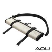 AOU YKK配件 台灣製 可斜揹 捲式衣物收納袋 衣物袋(米)66-031D5